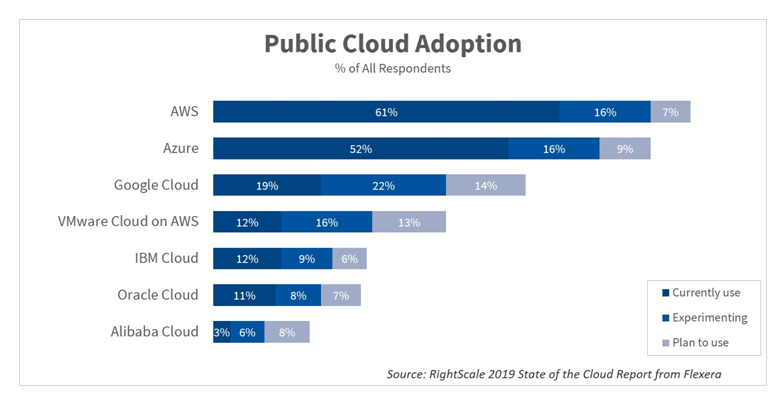 rightscale 2019 public cloud adoption